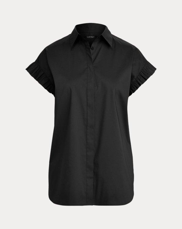 Cotton-Blend Short-Sleeve Shirt