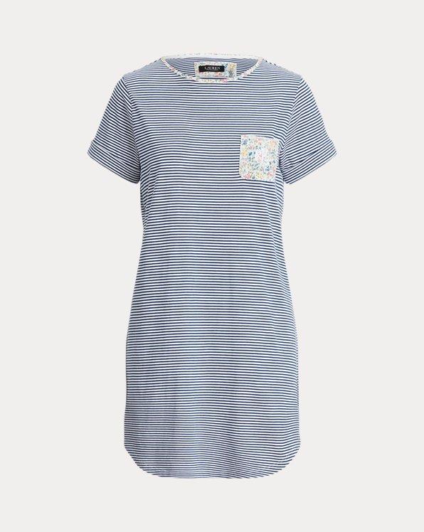 Striped Cotton-Blend Sleep Shirt
