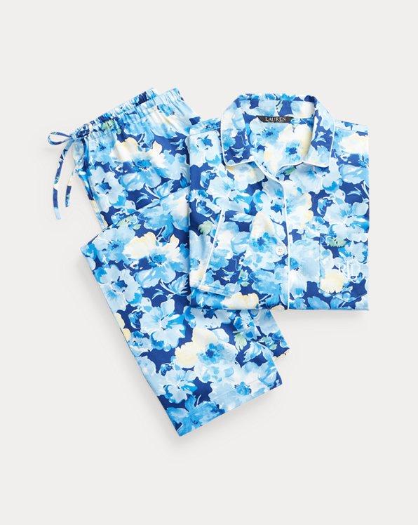 Floral Three-Quarter-Sleeve Sleep Set