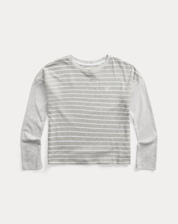 Mixed-Stripe Long-Sleeve Top