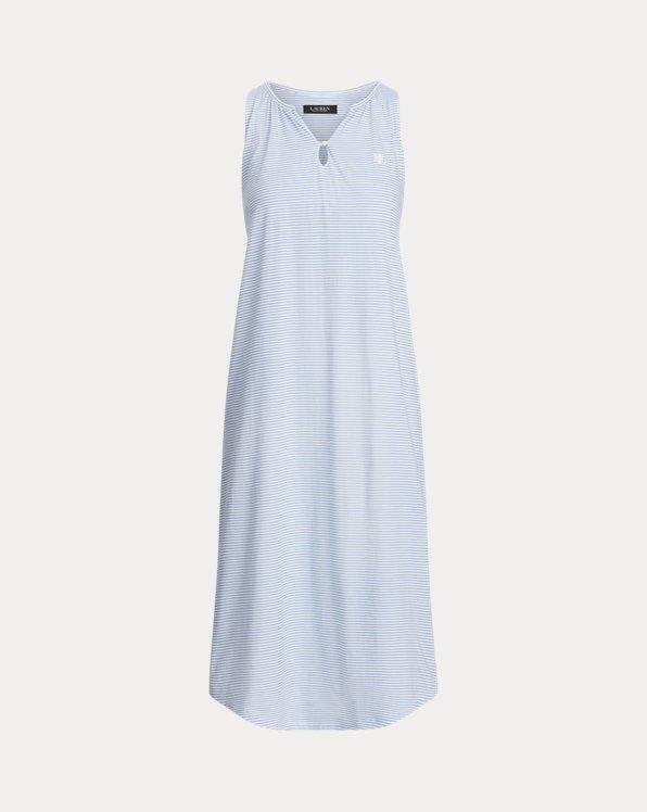 Striped Sleeveless Ballet Nightgown