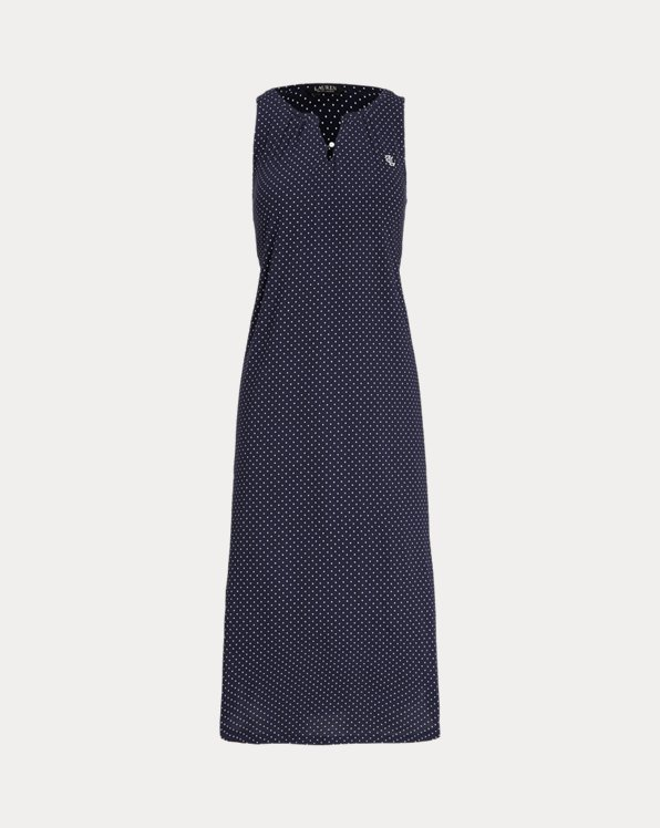 Polka-Dot Sleeveless Ballet Nightgown