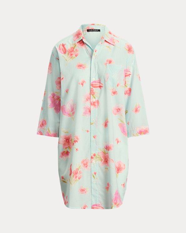 Chemise de pyjama coton mélangé à motif