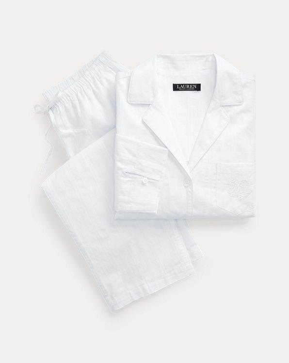 Gestreifter Pyjama mit 3/4-Ärmeln