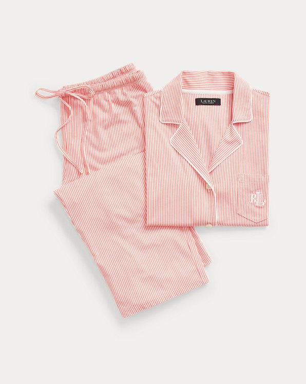 Pyjama Capri en coton rayé