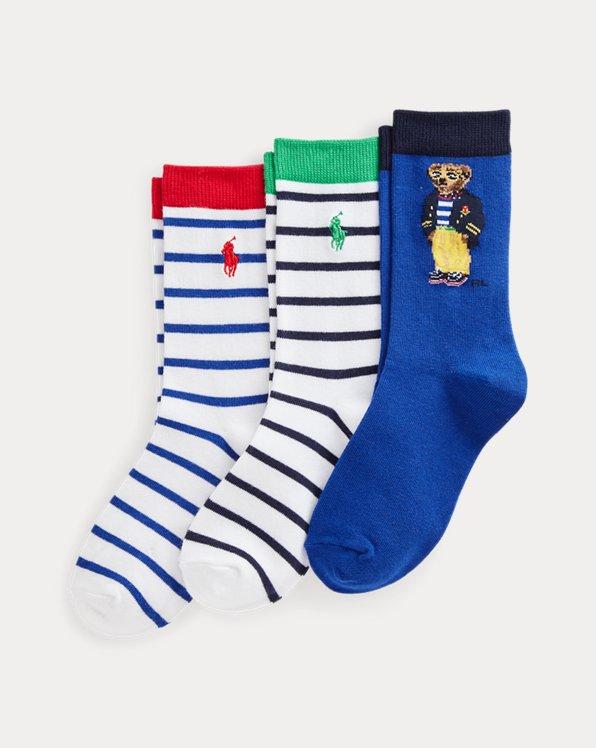 3er-Pack Crew-Socken mit Polo Bear