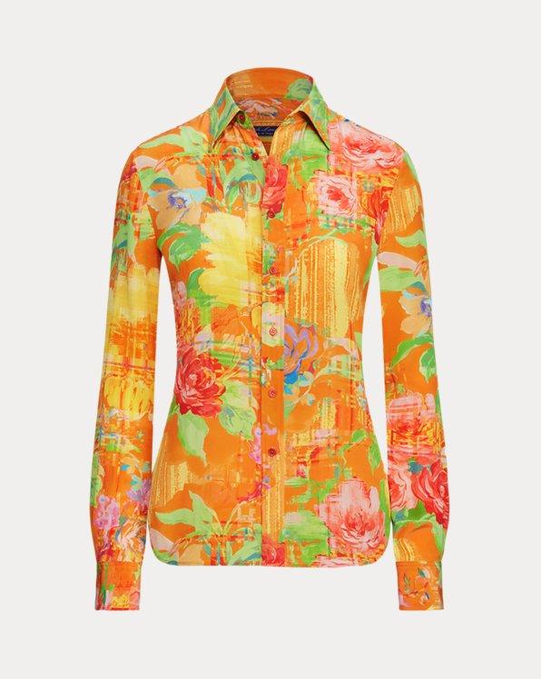 Hailey Floral Silk Shirt