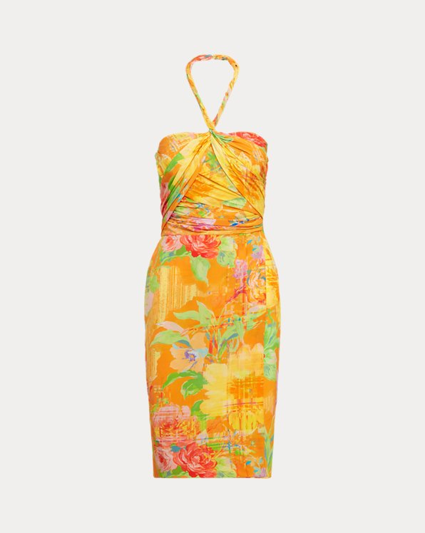 Rosamund Floral Silk Cocktail Dress