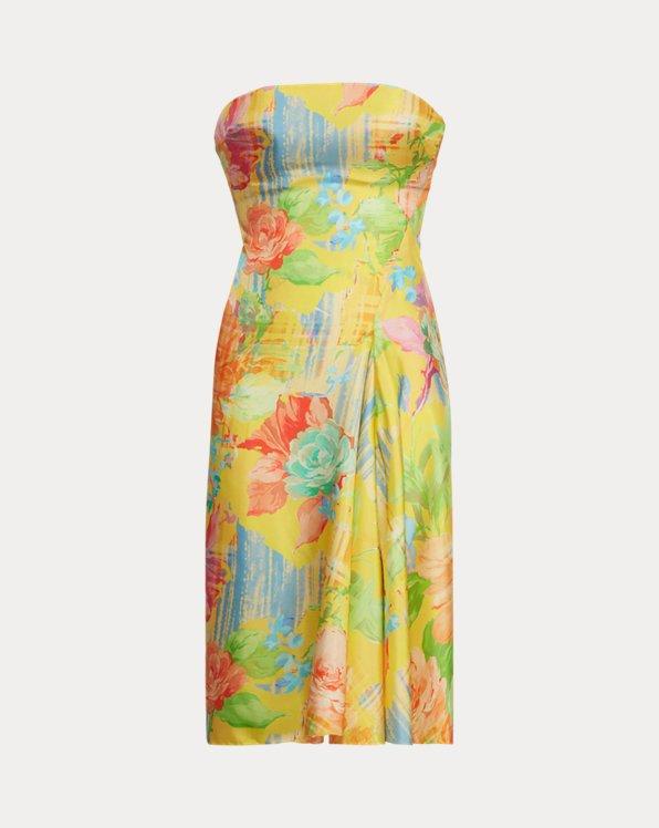 Jaylin Floral Silk Cocktail Dress