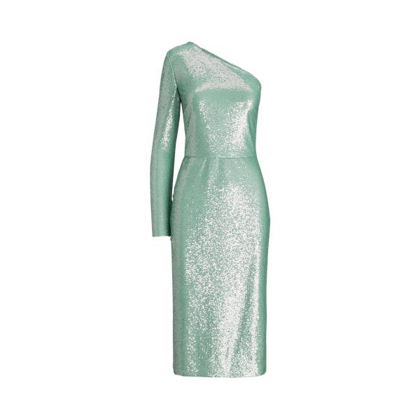 Ralph Lauren Raelynn Embellished Cocktail Dress In Light Blue