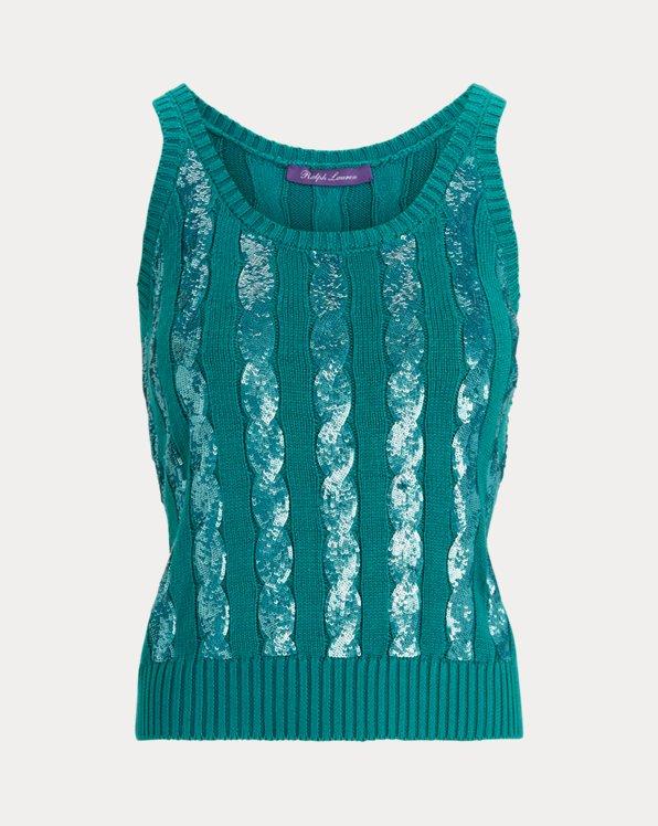 Sequined Sleeveless Tank Sweater