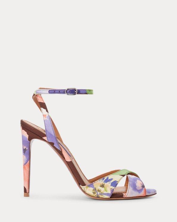 Kandice Floral Silk Sandal