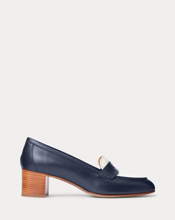 Chloey Heeled Calfskin Loafer