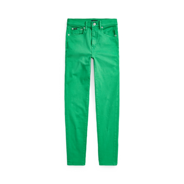 Ralph Lauren Tompkins High-rise Skinny Jean In Green