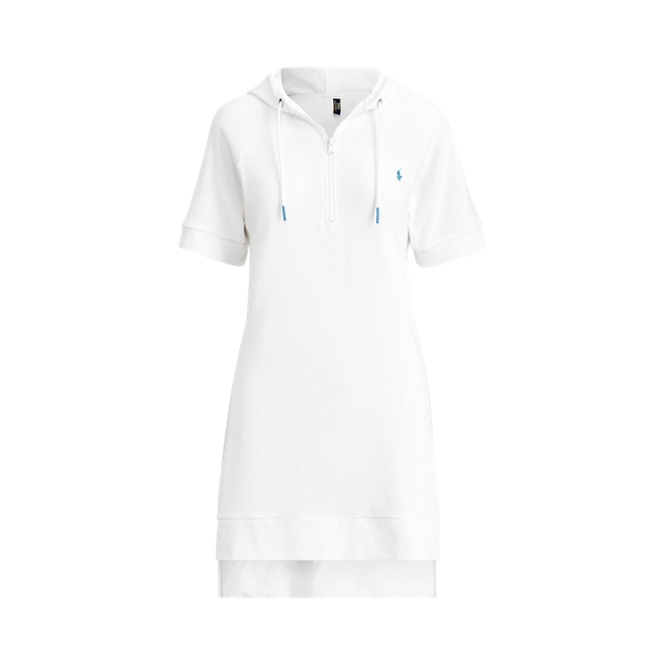 Ralph Lauren French Terry Hoodie Dress In White