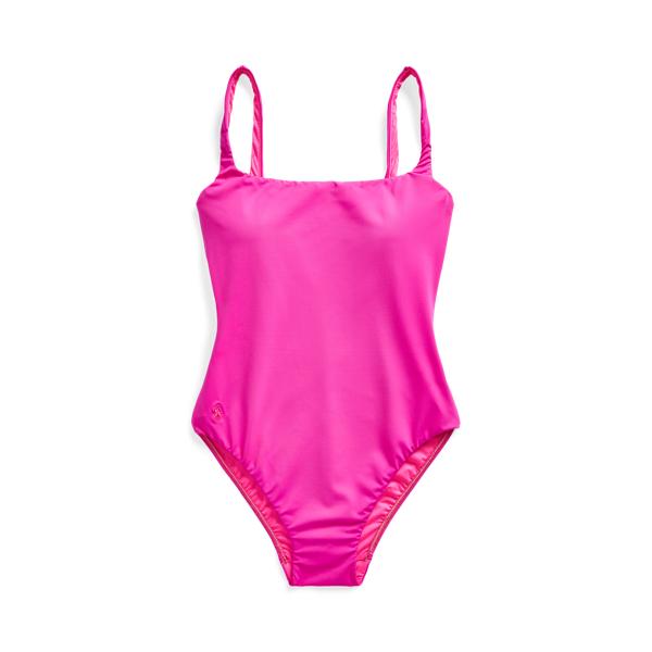 Ralph Lauren Scoopback One-piece Swimsuit In Fuschia