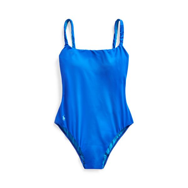 Ralph Lauren Scoopback One-piece Swimsuit In Cobalt