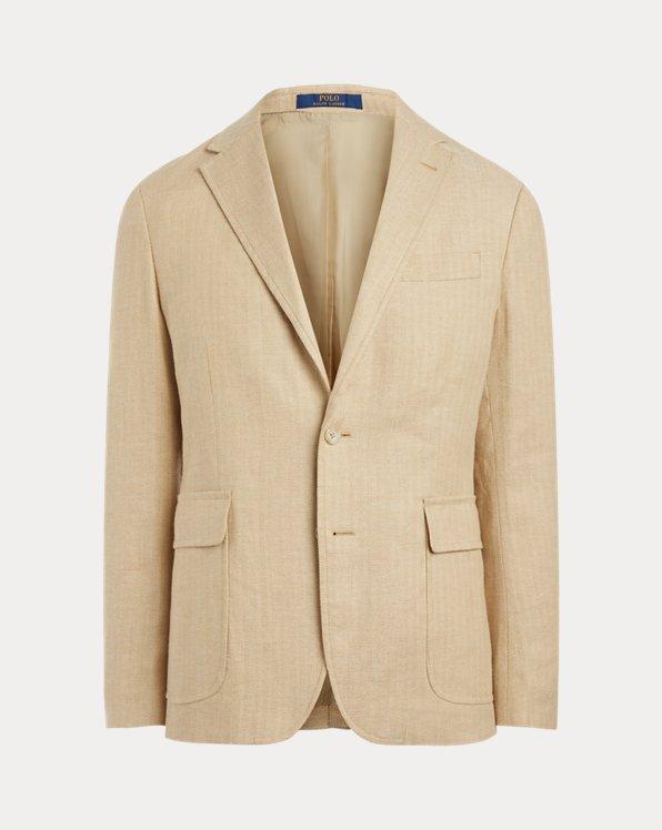 Polo Stretch Herringbone Suit Jacket