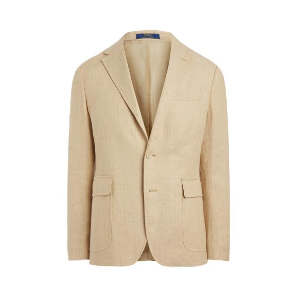Ralph Lauren Polo Stretch Herringbone Suit Jacket In Brown