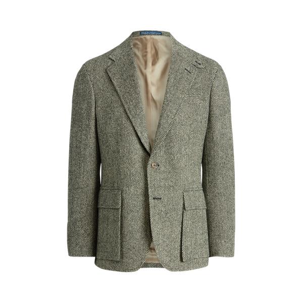 Ralph Lauren The Rl67 Herringbone Jacket In Gray