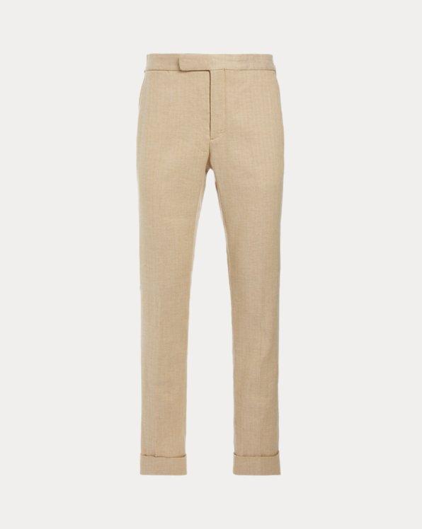Polo Stretch Herringbone Suit Trouser