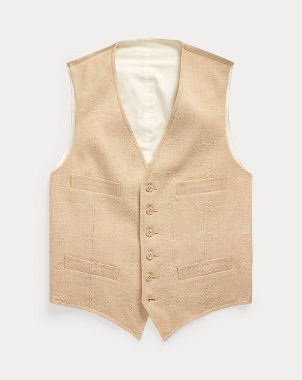 Stretch Herringbone Vest