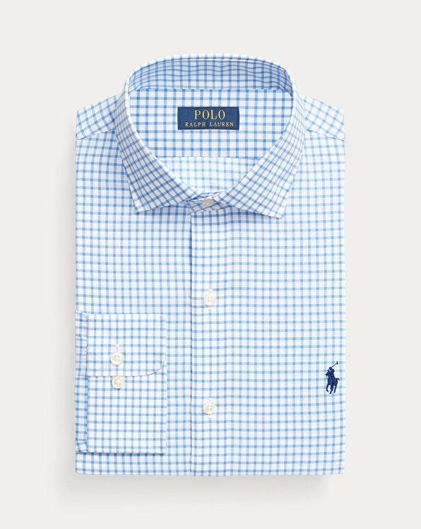 Slim Fit Checked Poplin Shirt