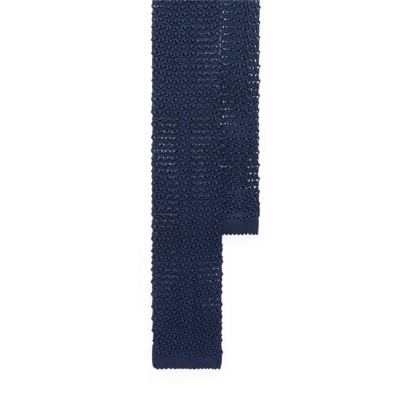 Ralph Lauren Knit Silk Tie In Blue