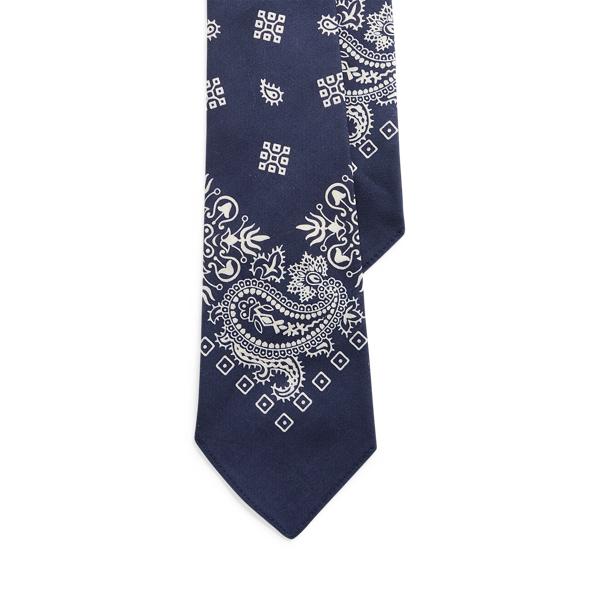 Ralph Lauren Vintage-inspired Bandanna Tie In Blue
