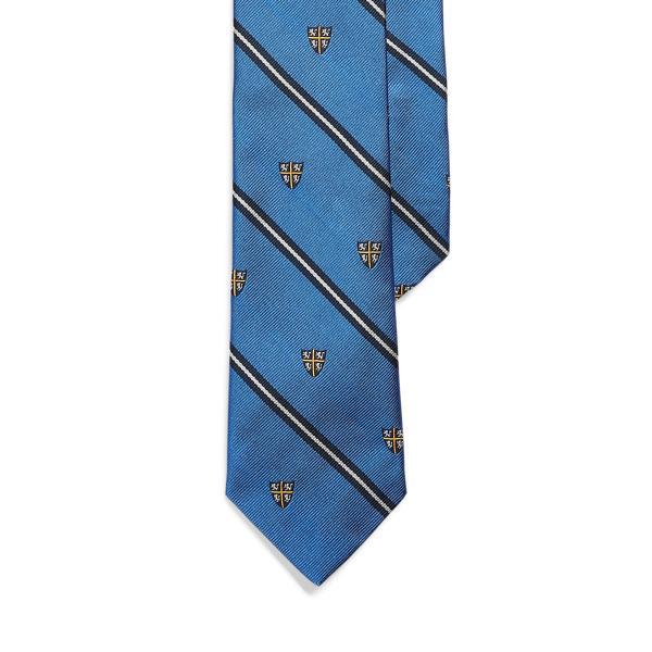 Ralph Lauren Vintage-inspired Silk Narrow Tie In Gold