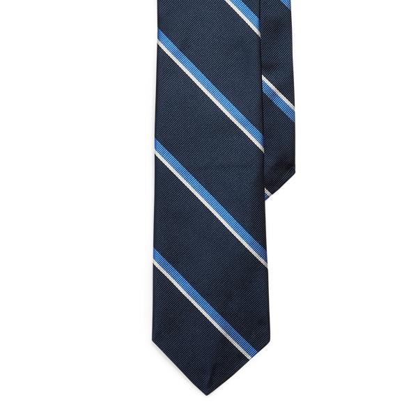 Ralph Lauren Vintage-inspired Silk Narrow Tie In Blue