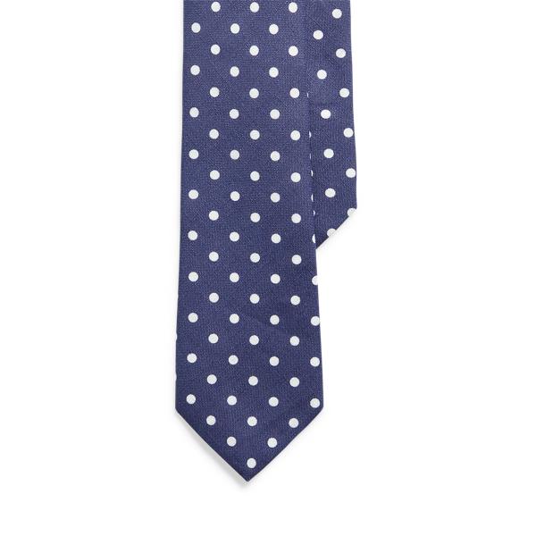 Ralph Lauren Vintage-inspired Linen Narrow Tie In Brown