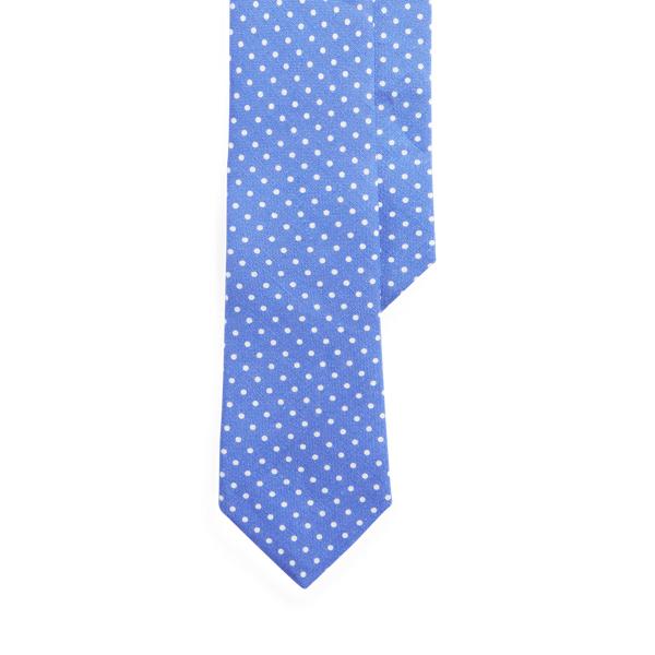 Ralph Lauren Vintage-inspired Linen Narrow Tie In Blue