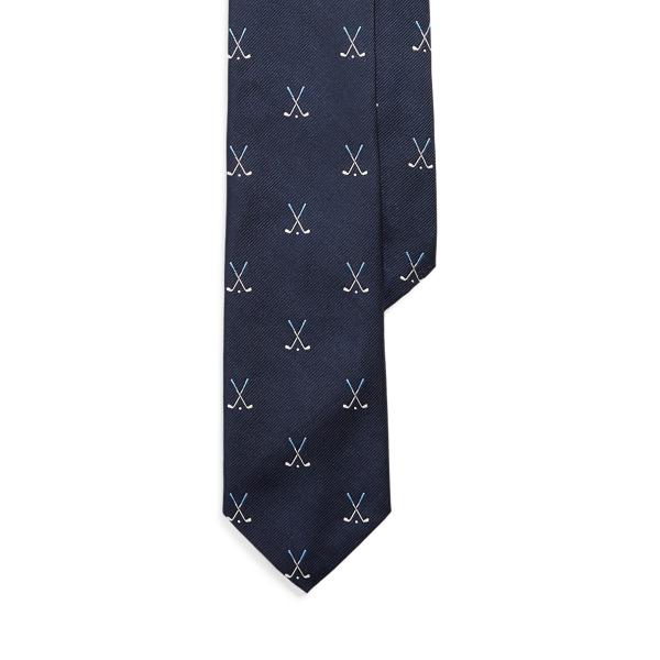 Ralph Lauren Vintage-inspired Silk Narrow Tie In Black