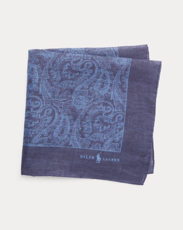 Paisley Linen Pocket Square