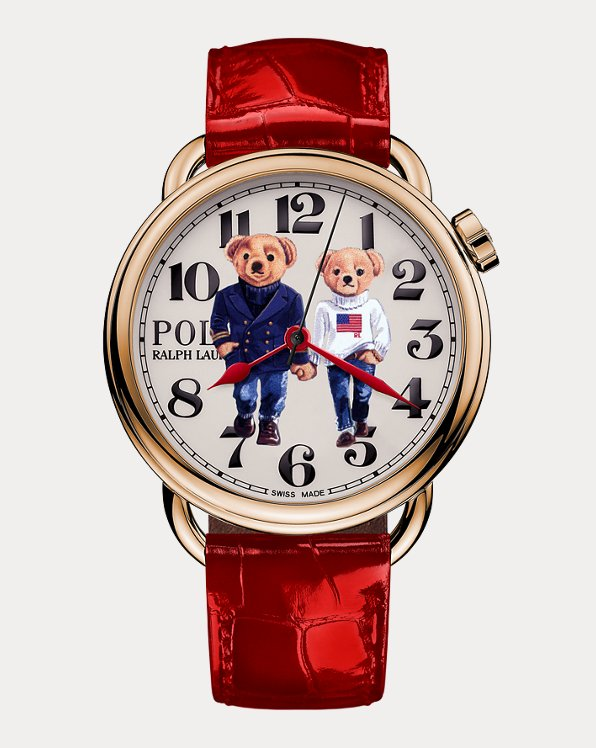 Ralph & Ricky Bear Rose Gold 42 MM Watch