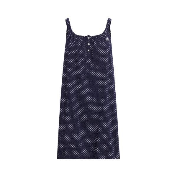 로렌 랄프로렌 나이트 가운 Lauren Polka Dot Sleeveless Nightgown,Navy