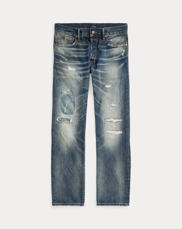 Classic Fit Distressed Selvedge Jean