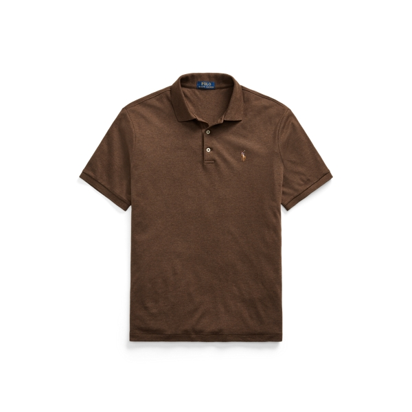 Ralph Lauren Classic Fit Soft Cotton Polo Shirt In Brown