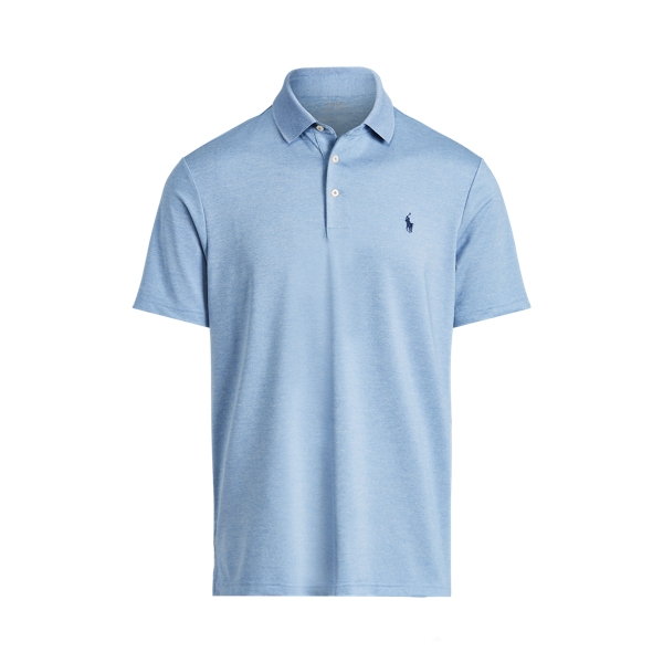 Ralph Lauren Classic Fit Performance Polo Shirt In Campus Blue Heather