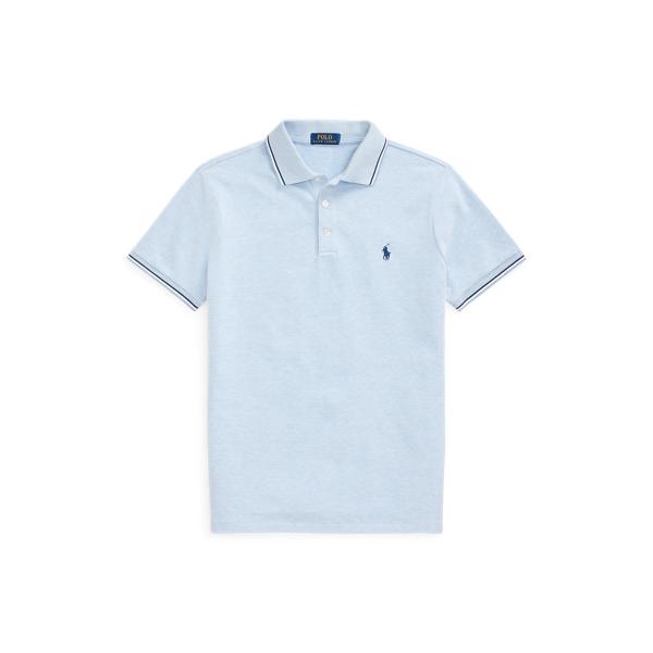 Ralph Lauren Custom Slim Stretch Birdseye Polo Shirt In Jamaica Heather