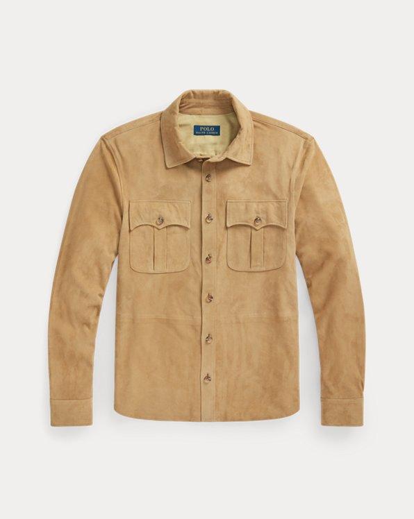 Safari-Jacke aus Wildleder