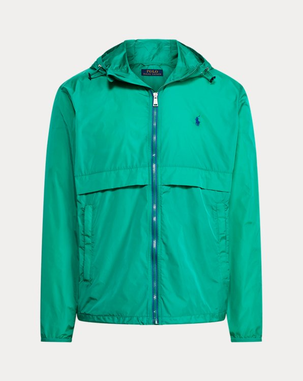 Water-Repellent Hooded Jacket