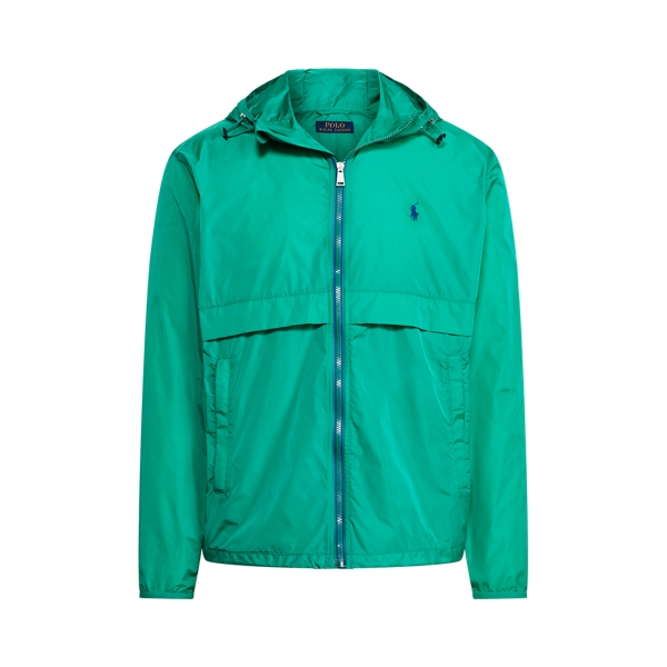 Ralph Lauren Water-repellent Hooded Jacket In True Green