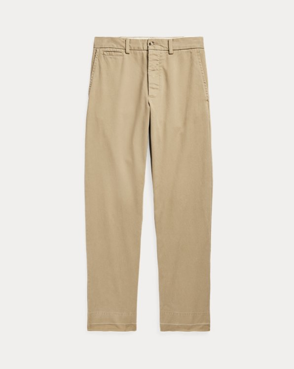 Relaxed Fit Twill Buckled-Back Trouser