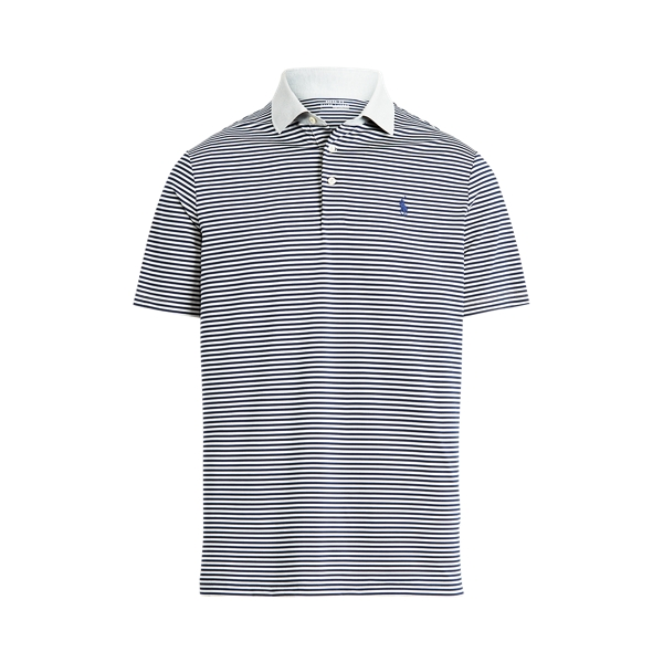Ralph Lauren Classic Fit Performance Polo Shirt In Andover Heather/navy