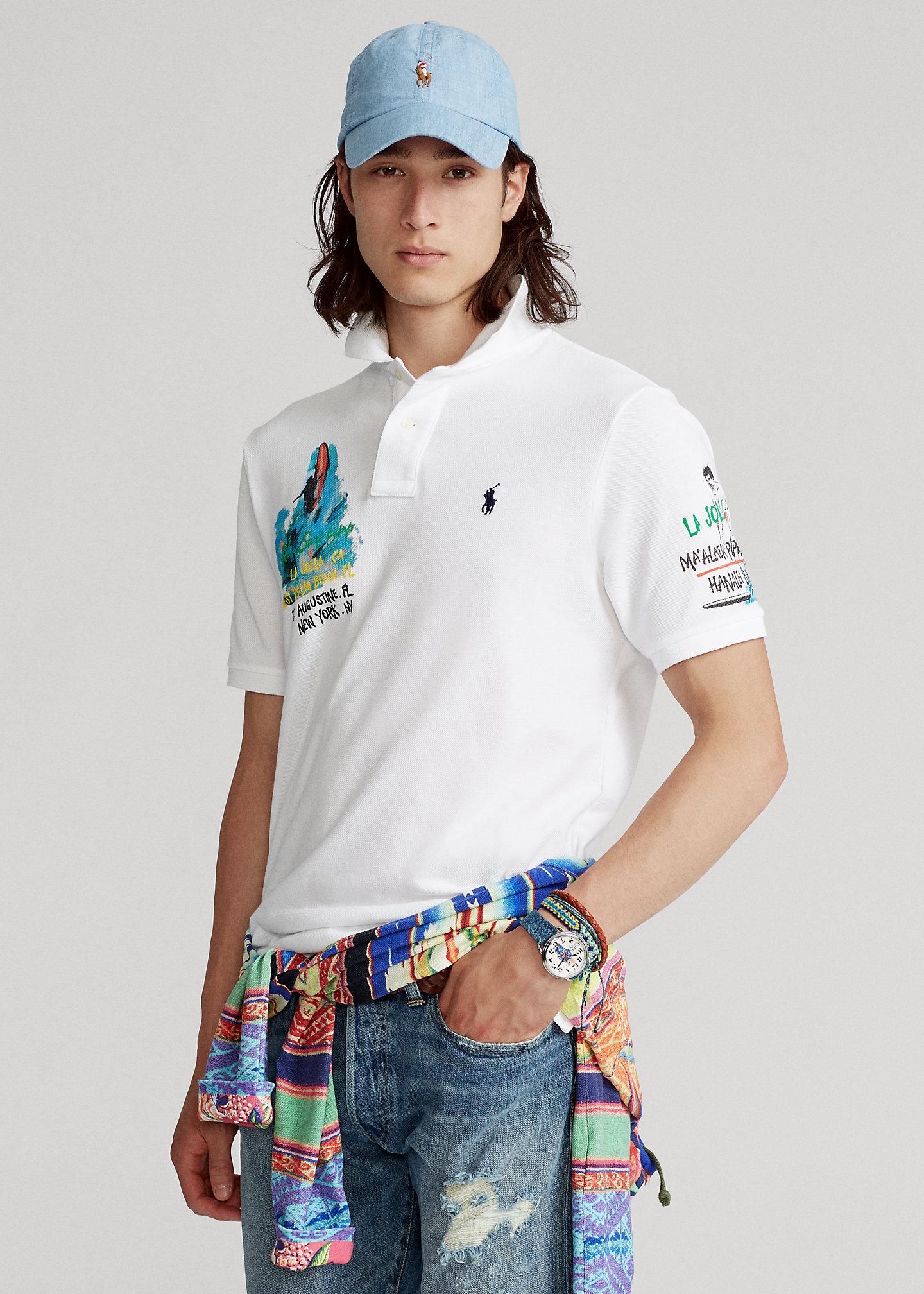 PoloRalphLauren Classic Fit Surf Mesh Polo Shirt
