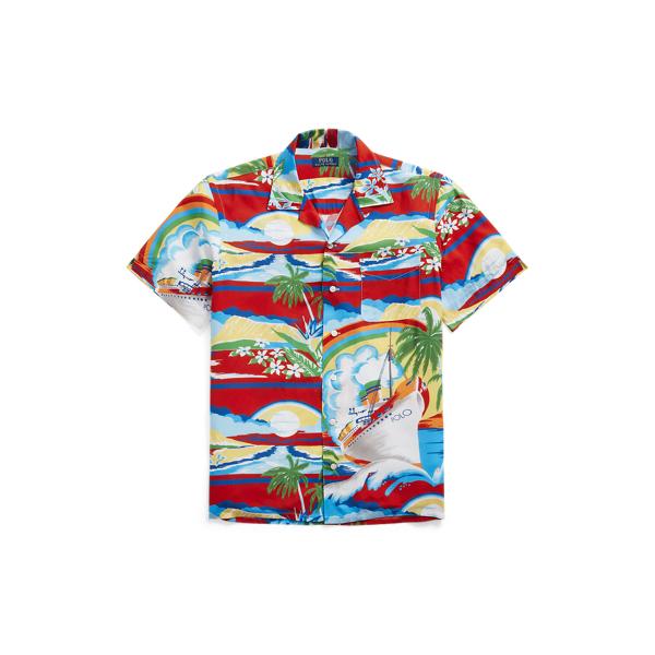 Ralph Lauren Classic Fit Tropical Camp Shirt In Multi