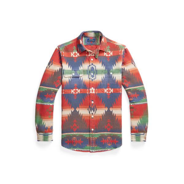 Ralph Lauren Classic Fit Southwestern Workshirt In Multi