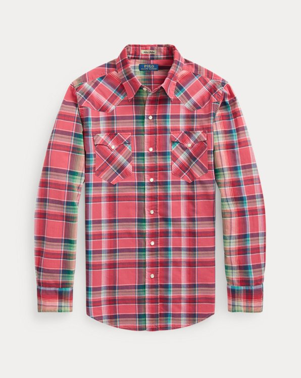 Classic Fit Madras Western Shirt
